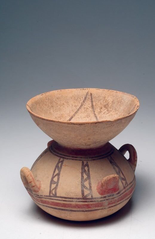 Ancient Daunian Pottery Funnel Krater EX Sothebys