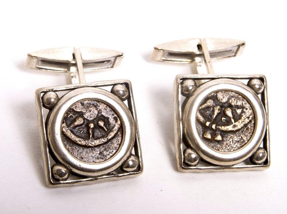 Authentic Widows mites biblical coins Set in Cufflinks