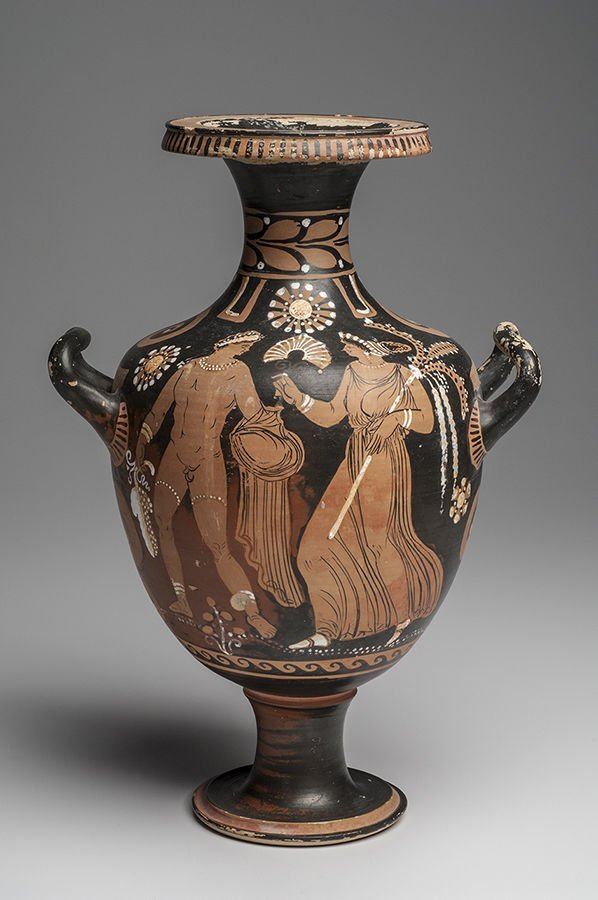 Ancient Apulian South Italian Red-Figure Pottery Hydria