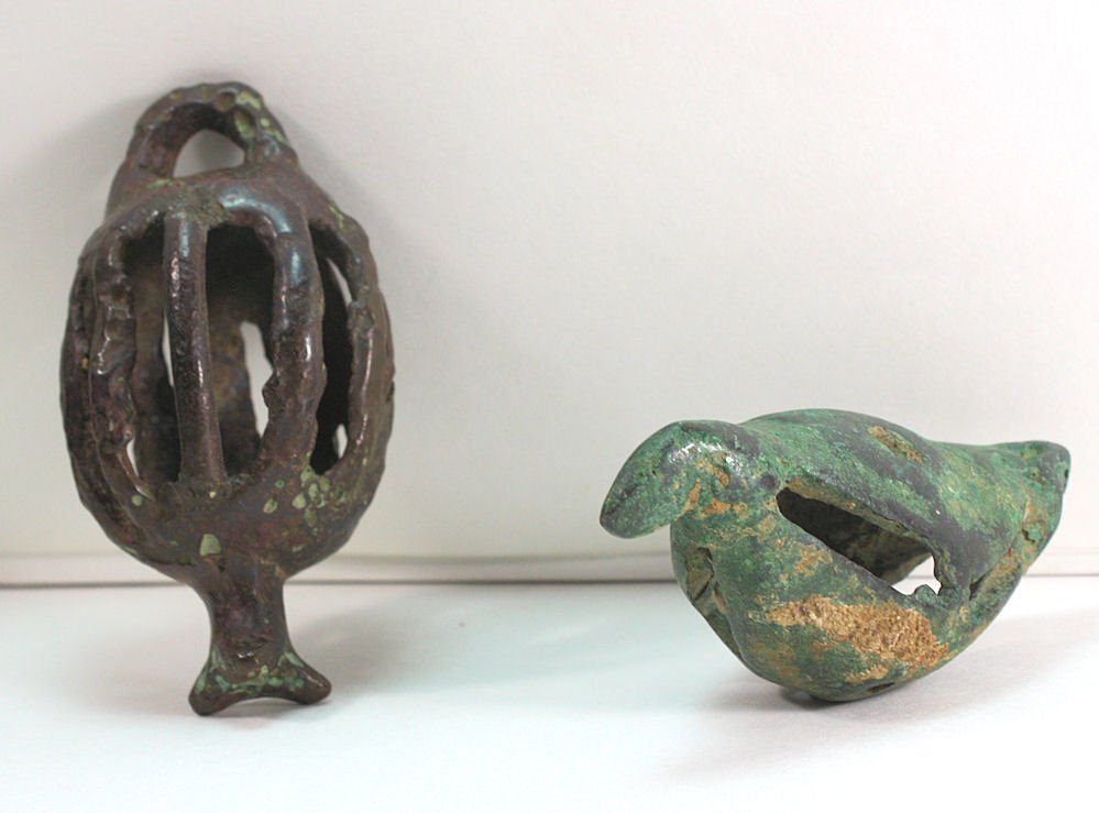 Lot of 2 Ancient Roman Bronze Bells c.2nd century AD.