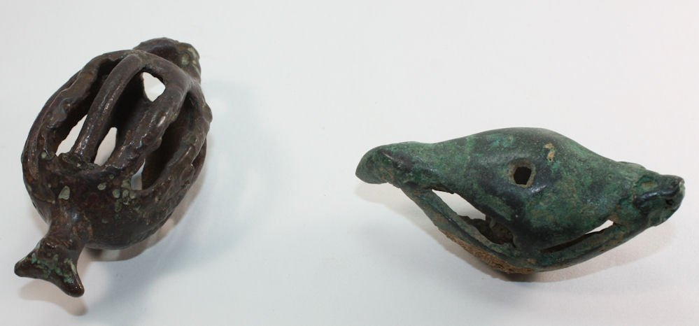 Lot of 2 Ancient Roman Bronze Bells c.2nd century AD. - 2