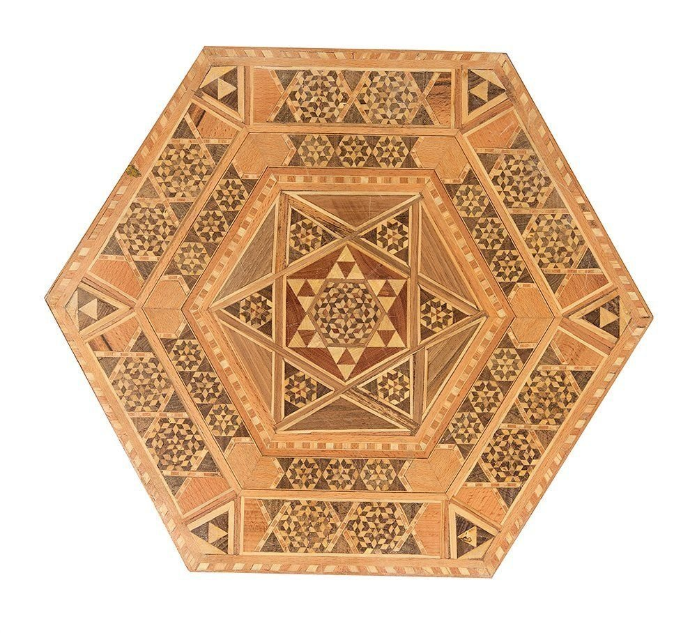 A Set Of Three SYRIAN Moorish octagonal Wood Tables - 2
