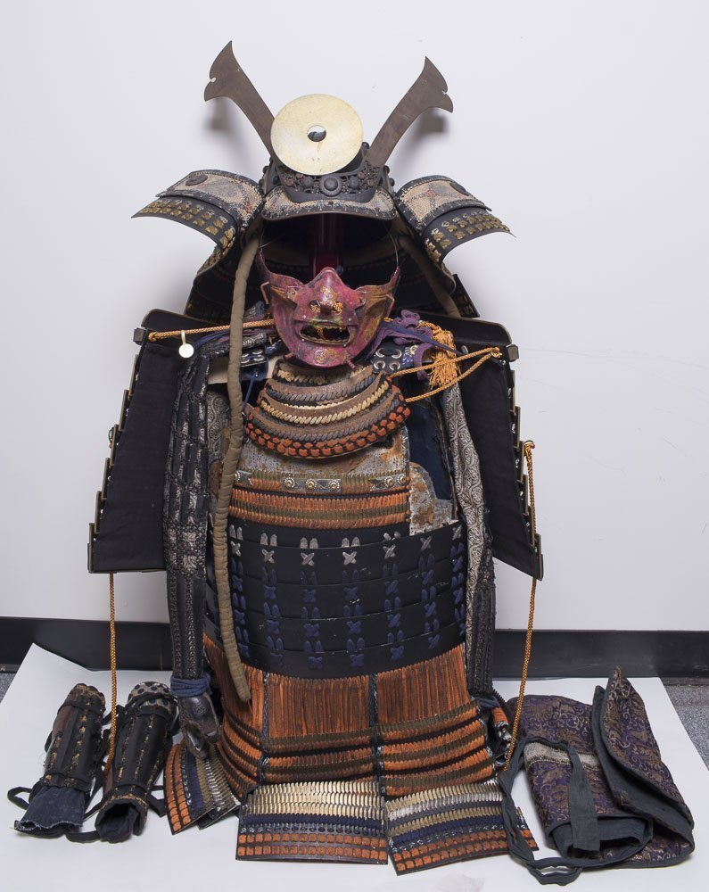 Antique Japanese samurai Armor set(Yoroi) complete set
