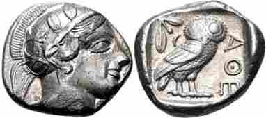 Ancient Greek ATTICA Athens Circa 454404 BC Coin