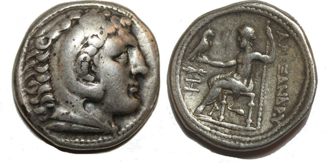 Ancient Greek Alexander III. 336-323 BC. AR Tetradrachm
