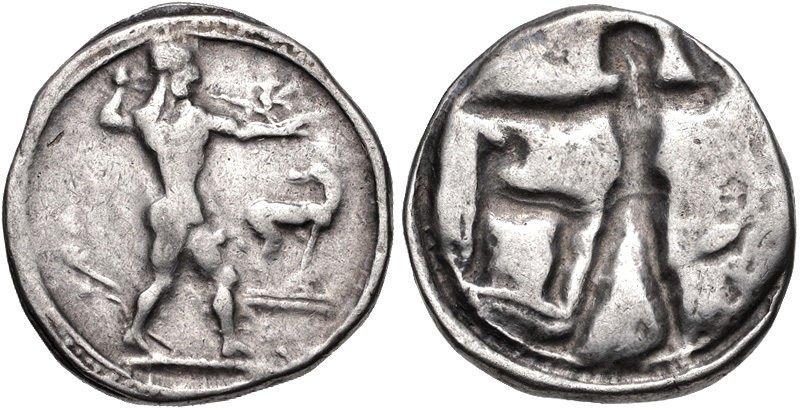 Ancient Greek BRUTTIUM, Kaulonia. Circa 475-470 BC.Coin