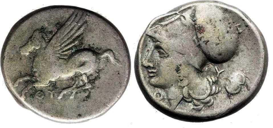 Ancient Greek AKARNANIA Thyrrheion c320 BC Pegasos Coin