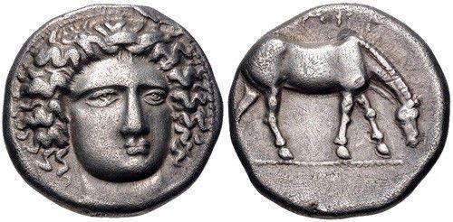 Ancient Greek THESSALY, Larissa. Circa 400-370 BC. coin