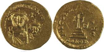 Ancient Byzantine Heraclius with Heraclius gold coin