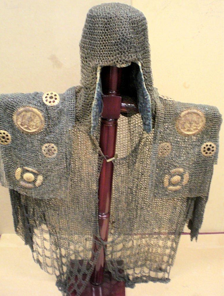 Japanese antique 17th century samurai chainmail Aromor