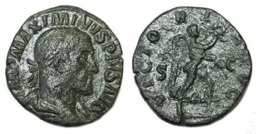 Ancient Roman MAXIMINUS I. 235-238 AD.Æ Sestertius Coin