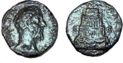 Ancient Roman Divus Marcus Aurelius. Died AD 180.  Coin
