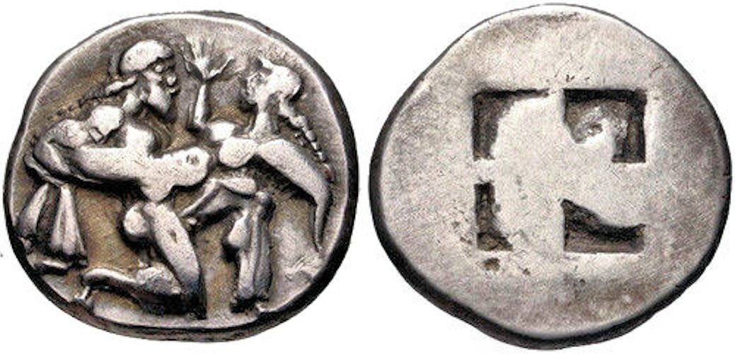 Ancient Greek ISLANDS off THRACE, Thasos. Coin - 2