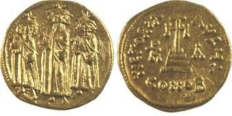 Ancient Byzantine Heraclius,with Heraclius gold Solidus