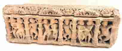 Large CENTRAL INDIAN SANDSTONE ARCHITECTURAL FRAGMENT