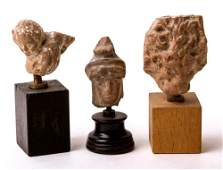 Collection of 3 Greek Hellenistic terracotta Heads Circ
