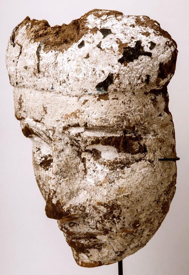 Large Ancient Egyptian Mummy Wood Mask c.664-332 BC. - 2