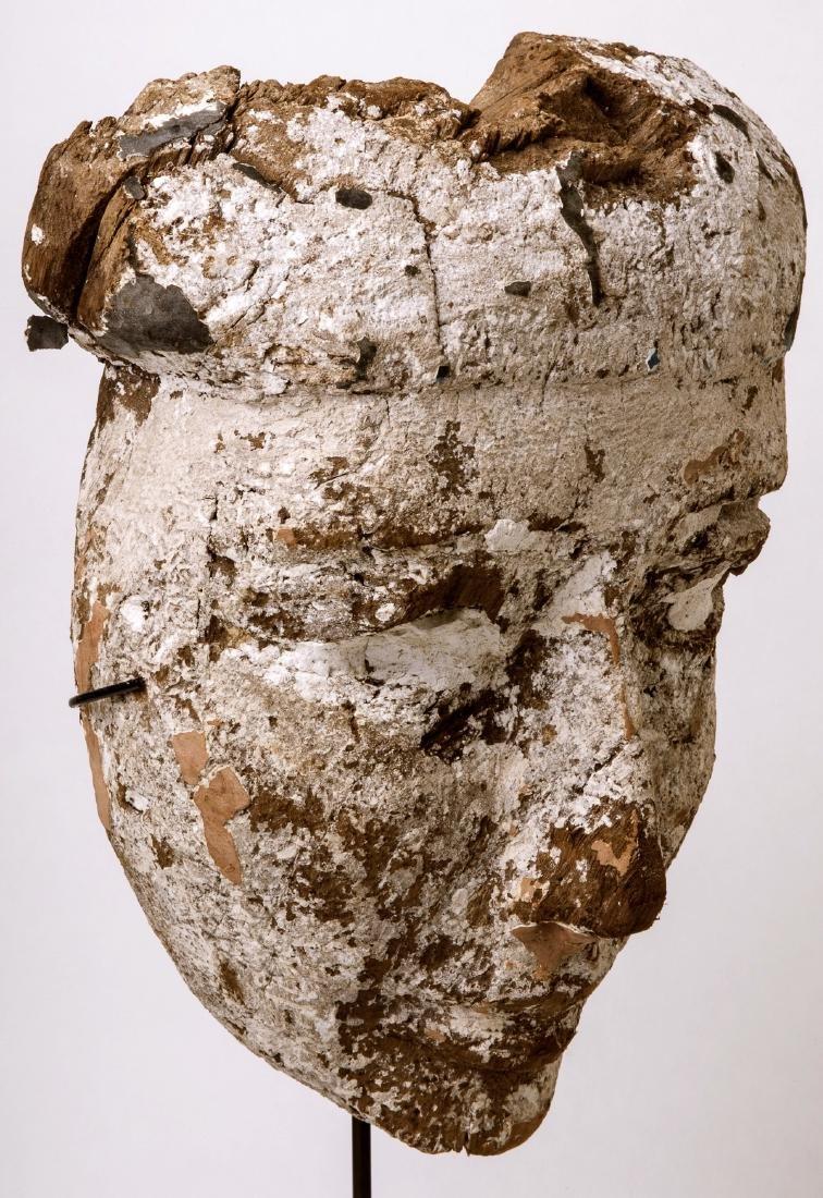Large Ancient Egyptian Mummy Wood Mask c.664-332 BC. - 3