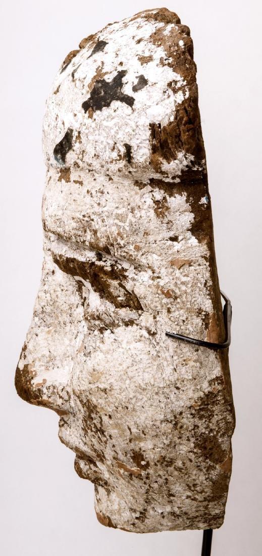 Large Ancient Egyptian Mummy Wood Mask c.664-332 BC. - 4