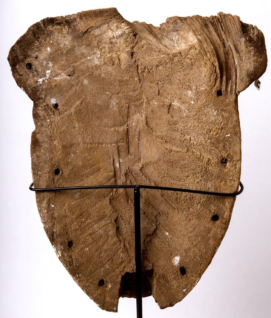 Large Ancient Egyptian Mummy Wood Mask c.664-332 BC. - 5