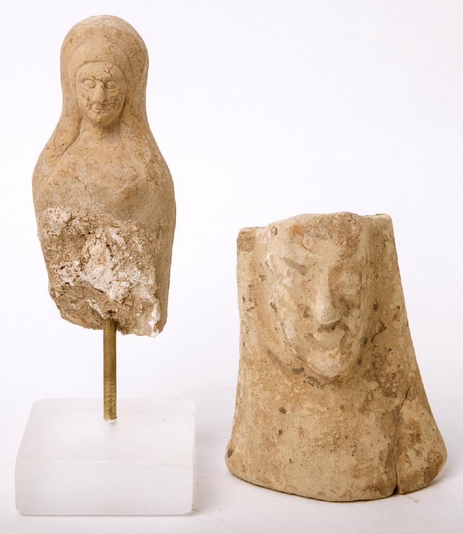 Lot of 2 Ancient Greek Terracotta Figures c.4th century