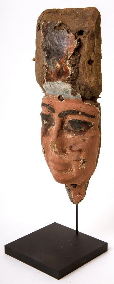 Ancient Egyptian Mummy Wood Mask c.664-332 BC. - 2