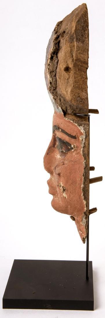 Ancient Egyptian Mummy Wood Mask c.664-332 BC. - 3