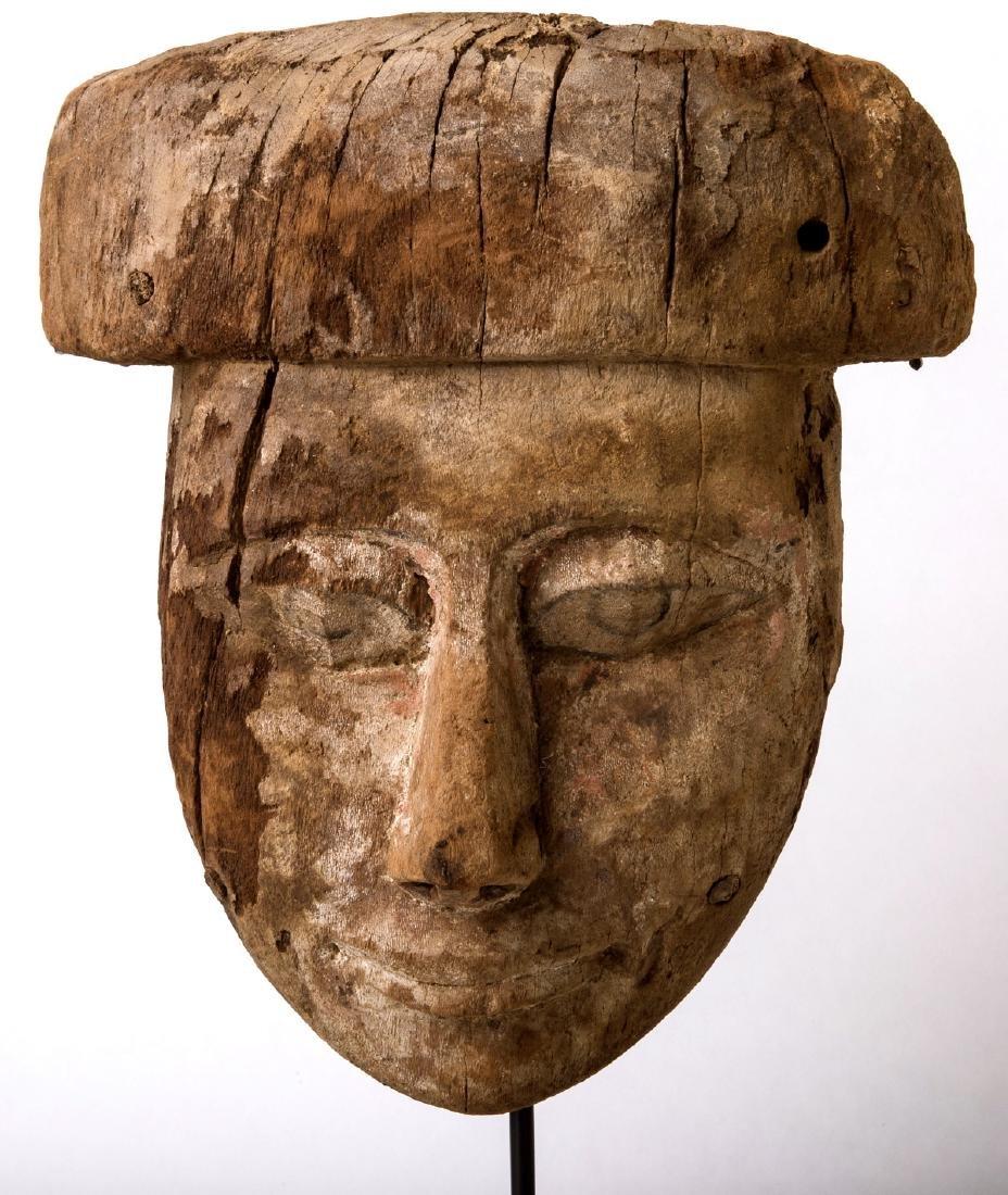 Ancient Egyptian Mummy Wood Mask c.664-332 BC.