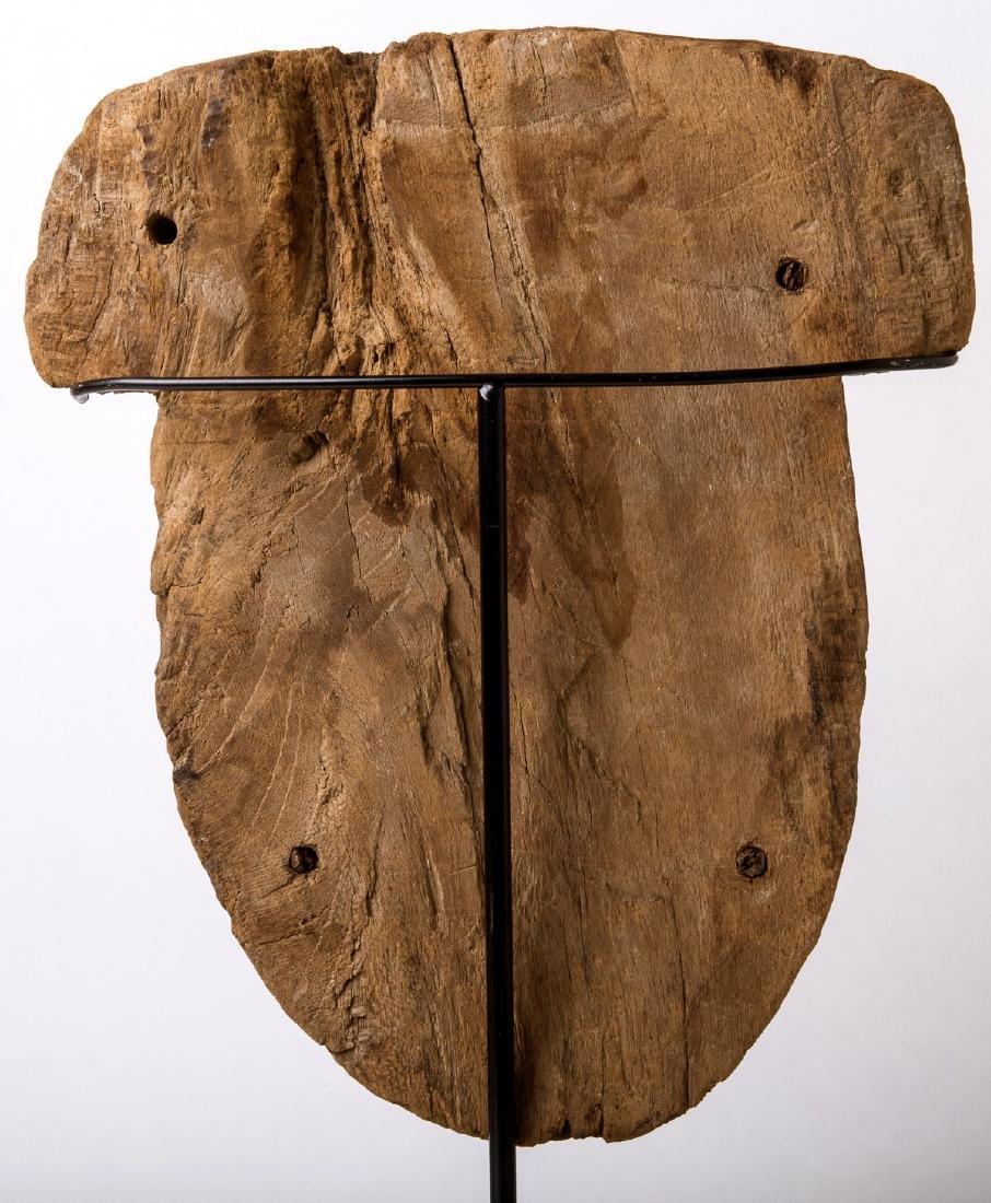 Ancient Egyptian Mummy Wood Mask c.664-332 BC. - 4