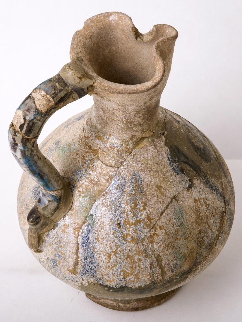 Ancient Islamic Pear Shaped Ceramic Jug Arabic c.13th c - 2