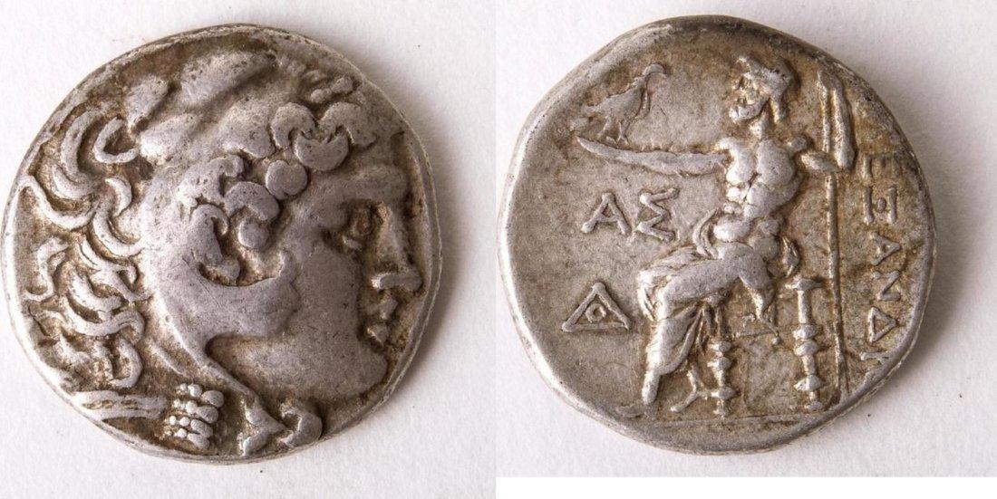 Ancient Alexander III. 336-323 BC. AR Tetradrachm Coin