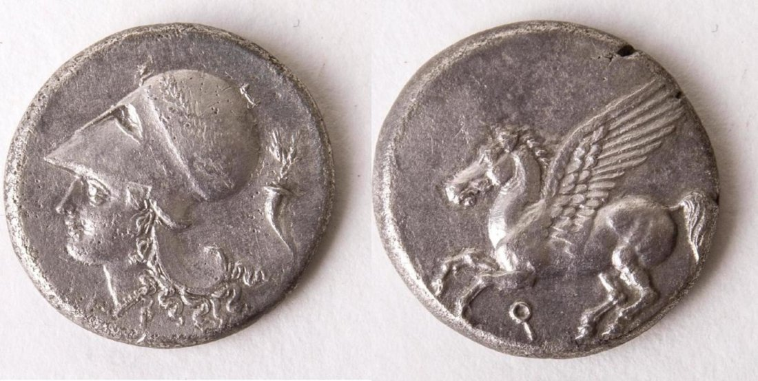 Ancient CORINTHIA, Corinth. Circa 345-307 BC. AR Stater