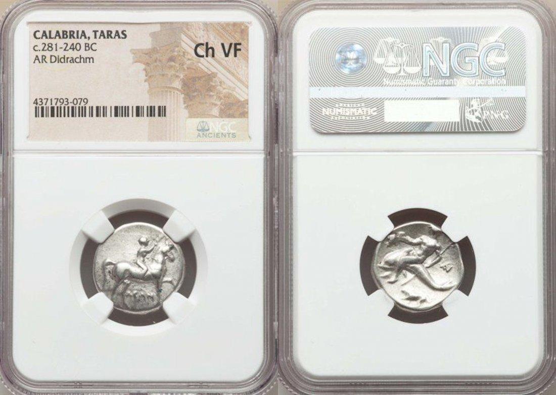 Ancient CALABRIA. Tarentum. Ca. 272-240 BC.Silver coin