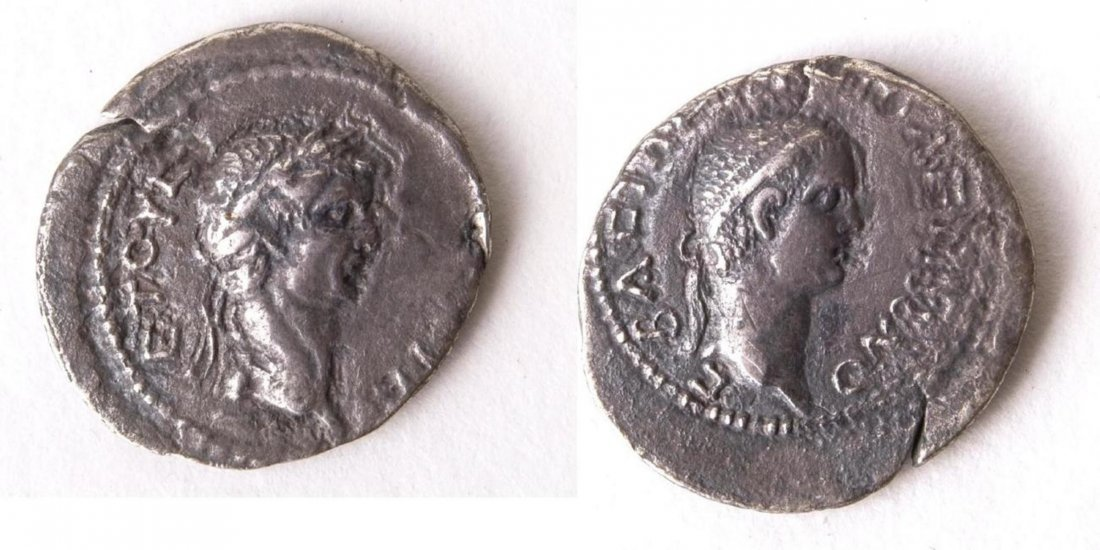 Ancient KINGS of PONTUS. Polemo II, with Claudius. AD 3