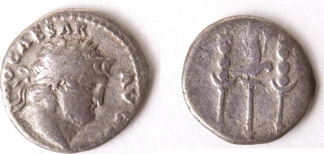 Ancient Roman Silver Denarius Nero. AD 54-68.