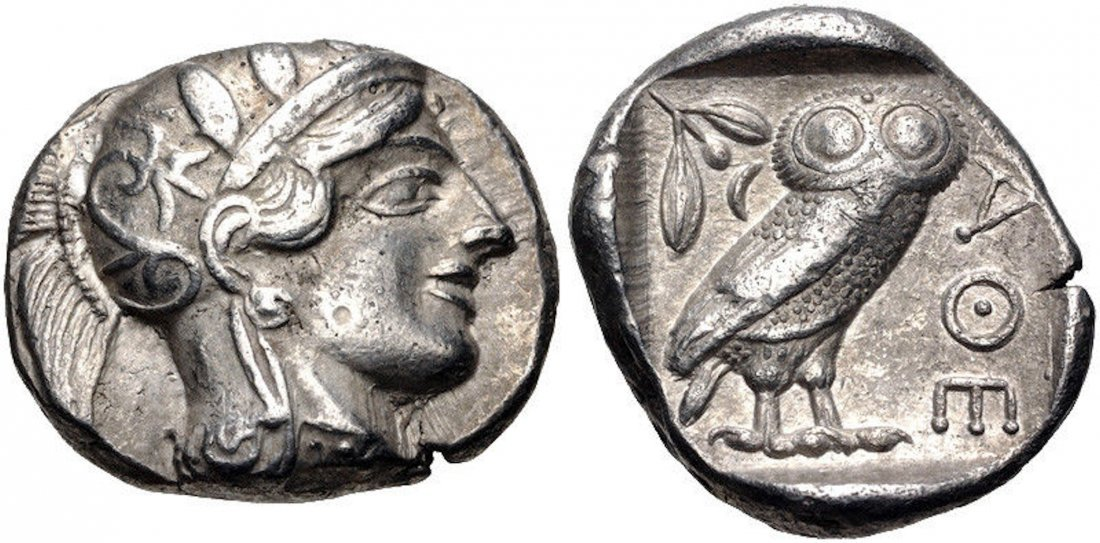Ancient ATTICA, Athens. Circa 454-404 BC.AR Tetradrachm