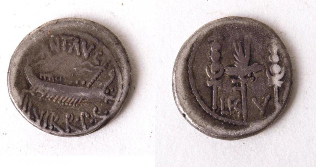 Ancient Mark Antony. Autumn 32-spring 31 BC AR Denarius