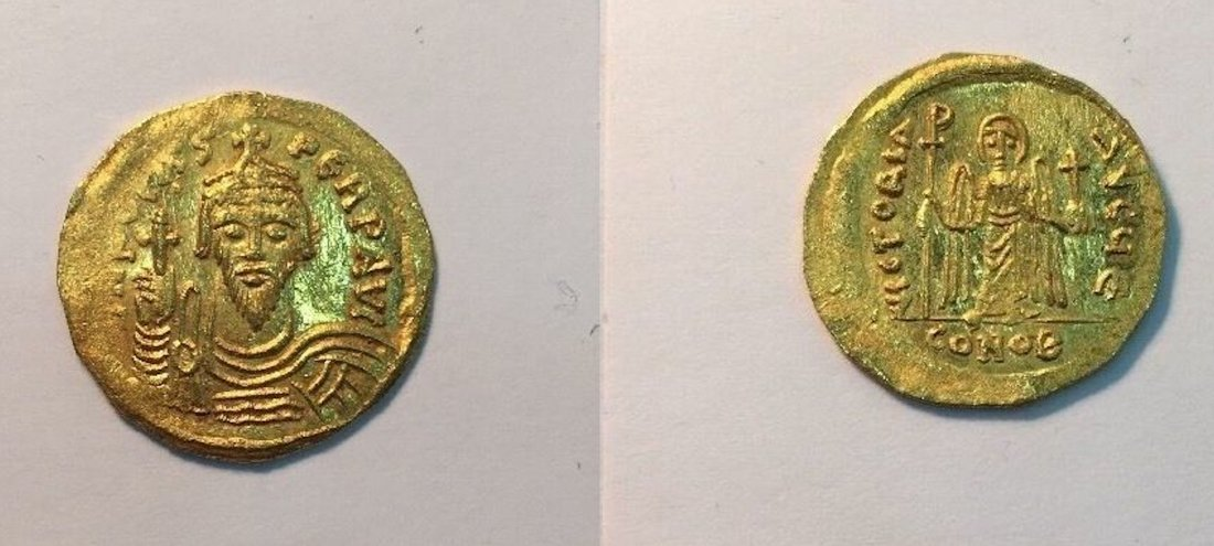 Ancient Byzantine Phocas. 602-610. AV Solidus (4.5 gm).