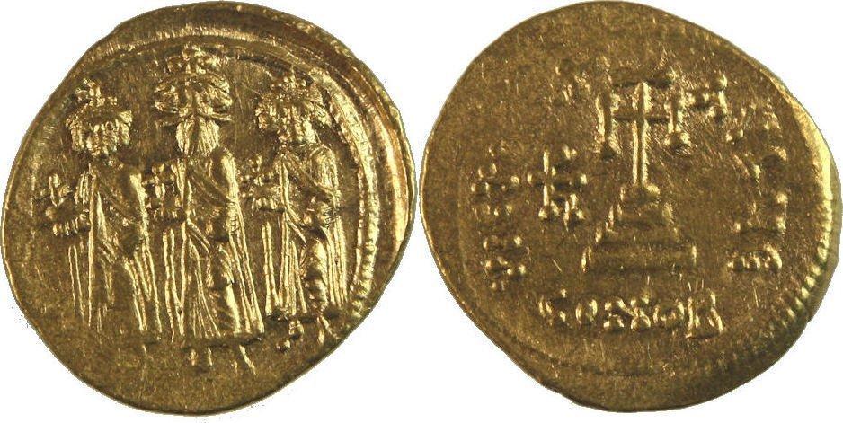 Ancient Byzantine Heraclius, with Heraclius Constantine