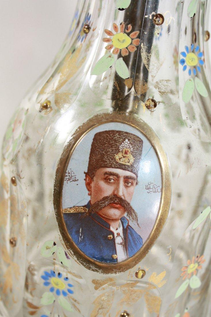 19th cent Persian Bohemian Glass Hookah Base - 3
