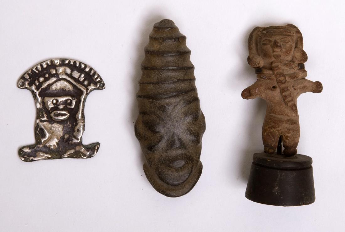 Lot of 3 Ancient Pre Columbian Figures c.250 BC-1200 A