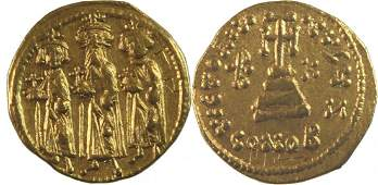 Ancient Byzantine Heraclius with Heraclius Constantine