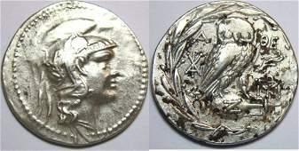 Ancient Greek ATTICA Athens Circa 16542 BC Tetradrachm