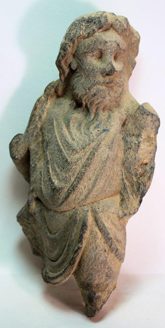 Ancient Gandhara Schist Figure w/wooden case c.2nd cen