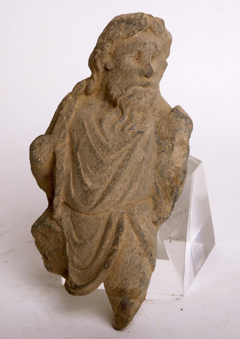 Ancient Gandhara Schist Figure w/wooden case c.2nd cen - 2