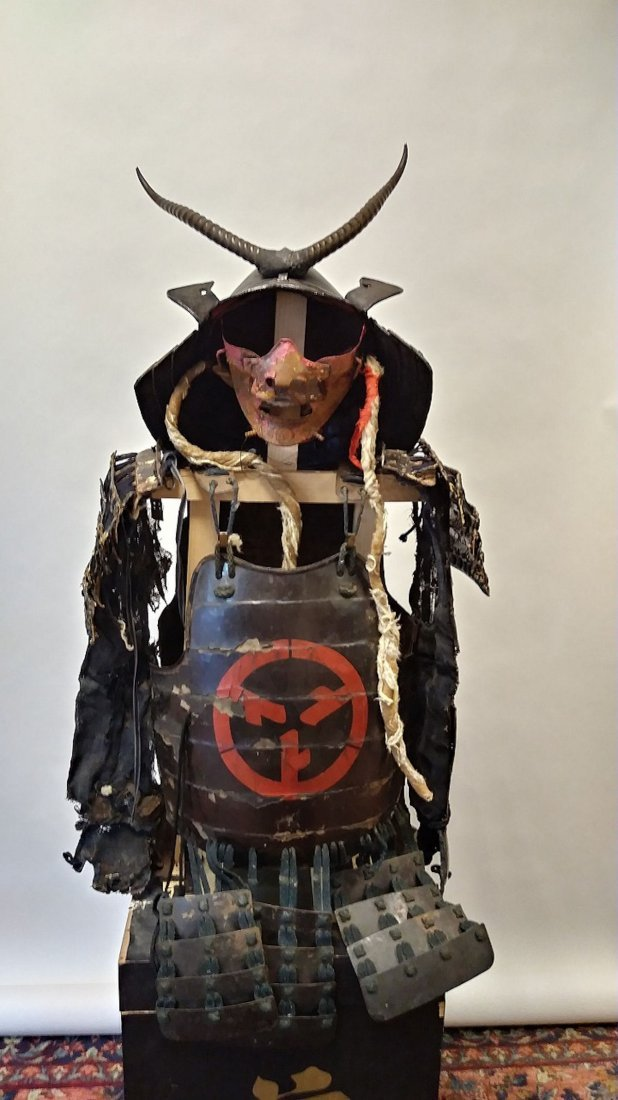 Antique Japanese samurai armor set,