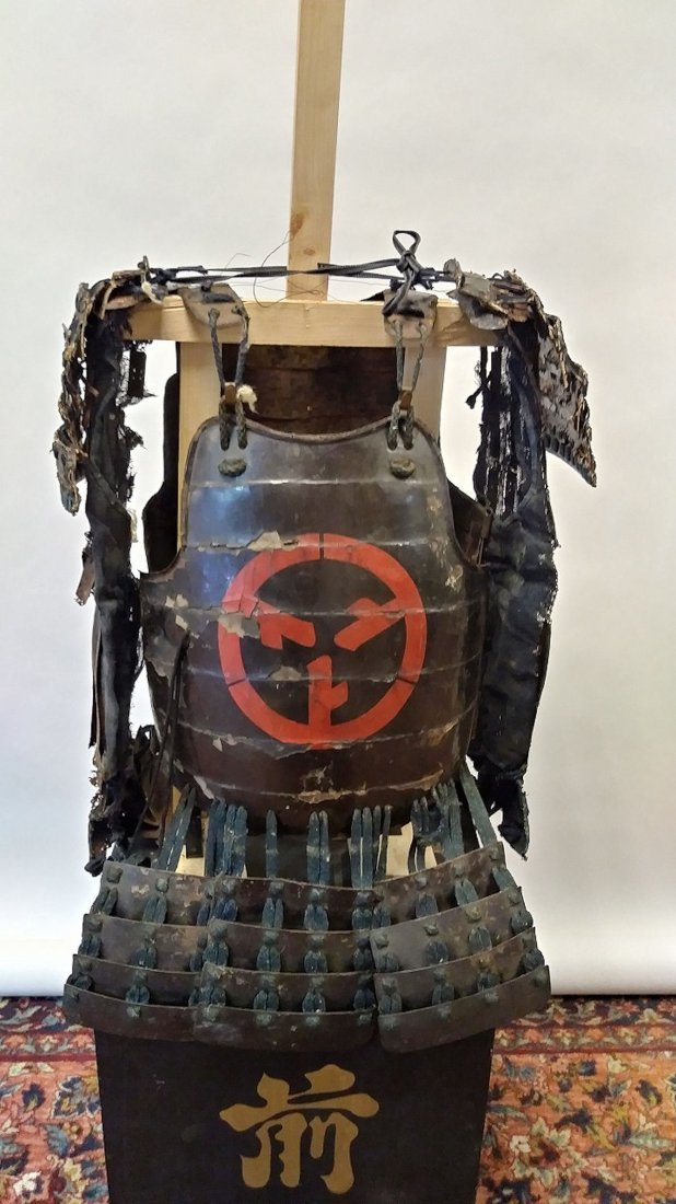 Antique Japanese samurai armor set, - 2