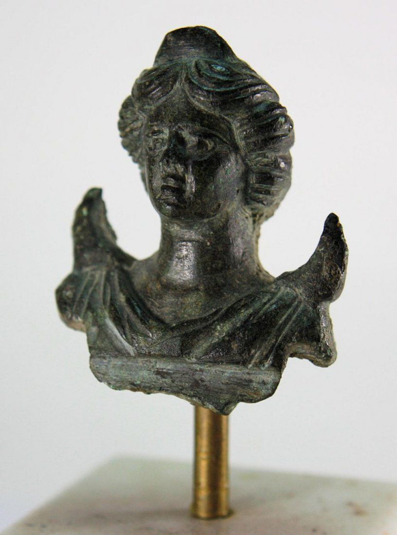 Ancient Roman Bronze Bust of Moon god c.2nd-3rd cen AD.