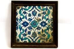 17th century Ottoman Turkish Ceramic Tile.
