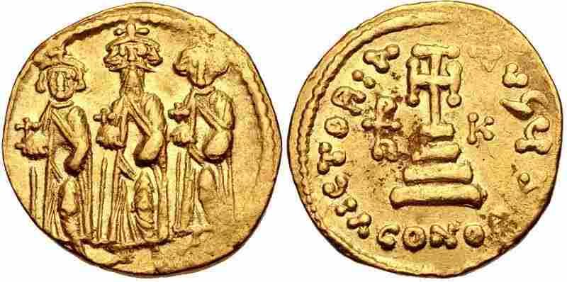Ancient Byzantine, Heraclius, with Heraclius Solidus